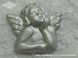 anđeo s krilima magnet za vjenčanje srebrni u kutijici