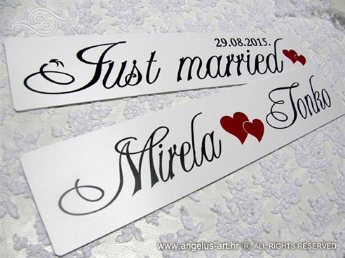 automobilska tablice za vjencanje