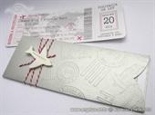 Pozivnica za vjenčanje-Silver Boarding pass