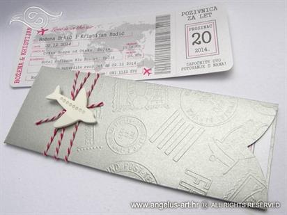 Silver Boarding pass