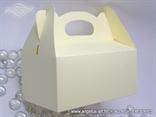 Krem kutija za kolače s mašnom