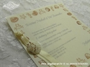 Pozivnica za vjenčanje Krem morska priča