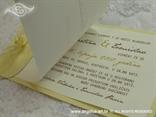 bež pozivnica za vjenčanje natural s ružom tisak