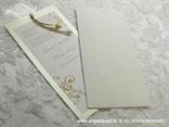bež pozivnica za vjenčanje u etui kuverti