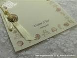 bež zahvalnica za vjenčanje s morskim motivom