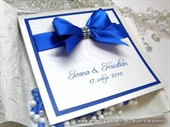 Exclusive greeting card - Royal Blue Bow
