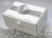 Pad for wedding rings - White Shine box