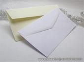 Kuverta za pozivnice bijel i krem 11x21 cm