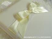 Knjiga gostiju za vjenčanje Krem mašna