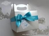 Kutije za kolace bijela perlasta manja