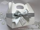 Bijelo srebrna kutija za kolače