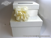 Wedding money box - Cream Rose Cake