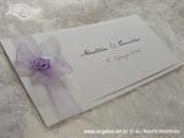 Pozivnica za vjenčanje Vintage Lilac Rose