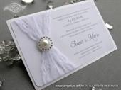 Wedding invitation - White Lace Harmony