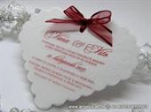 Pozivnica za vjenčanje - Red Heart Shape