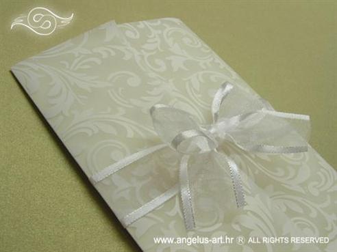 bijela pozivnica za bijelo vjenčanje