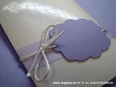 Pozivnica za krštenje - Purple Charm