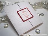 Pozivnica za vjenčanje Red & White Classic