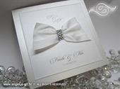 Pozivnica za vjenčanje - Stylish White Crystals