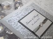 Pozivnica za vjenčanje Per Sempre White & Silver