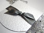 Pozivnica za vjenčanje Silver Flower Classic