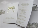 Pozivnica za vjenčanje Cream Bow Charm