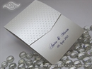 Preklopna zahvalnica za vjenčanje White Dots Classic
