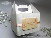 Bijela kutija za kolače od rebrastog kartona