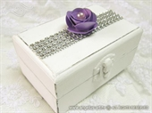 Wedding ring box - Purple Shine