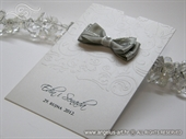 Wedding thank you card - White and Gray Charm