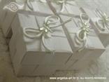 bijeli konfeti za vjenčanje s leptirima