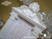 Poklon za goste - Bijeli okvir s anđelom