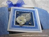 Ekskluzivna čestitka - Bijeli cvijet