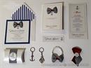bijelo plava morska kolekcija za vjencanje sa sidrom i masnom