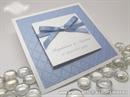 Trendy Light Blue bijelo plava pozivnica sa strukturom