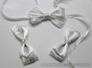 Kitica za rever za vjenčanje - White Silver Elegance