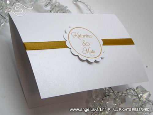 Pozivnica za vjenčanje Gold Sunshine 2 - Angelus Art