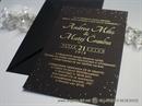 Pozivnice za vjenčanje - Black & Gold Line
