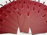 bookmark pozivnica u uskom crvenom etuiju