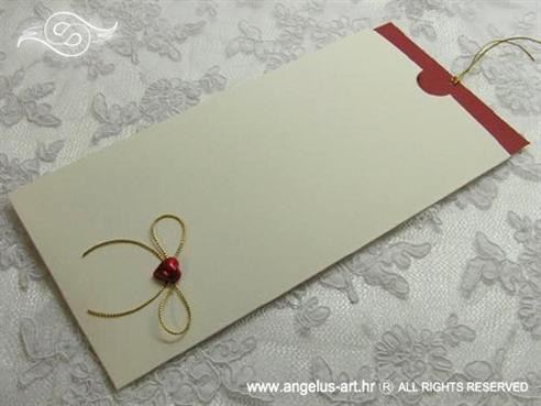 bordo crvena pozivnica na izvlačenje sa srcem