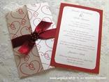 bordo crvena pozivnica za vjenčanje iznutra