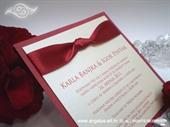 Pozivnica za vjenčanje Lovely in Red