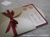 Pozivnica za vjenčanje Red Damask Mini Beauty