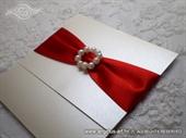 Pozivnica za vjenčanje Red Elegance 2