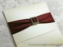 Pozivnica za vjenčanje Red Elegance
