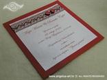 bordo pozivnica za vjenčanje s mrežom i srcima