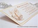 Pozivnica za vjenčanje Leptirov let - breskva