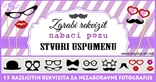 brkovi usta naocale photo booth foto rekviziti