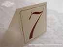 Broj stola za vjenčanje - Krem - bordo broj