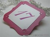 Broj stola za svadbenu večeru - Hot Pink Frame